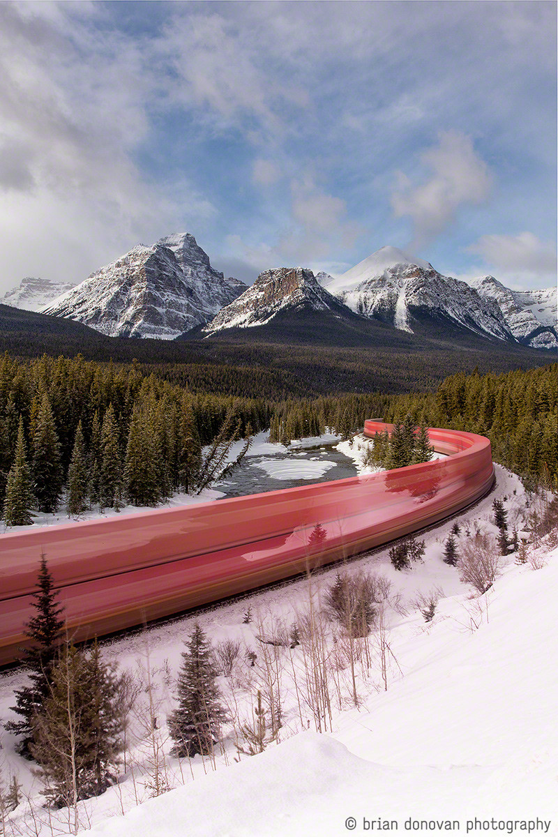 long exposure canadian trains