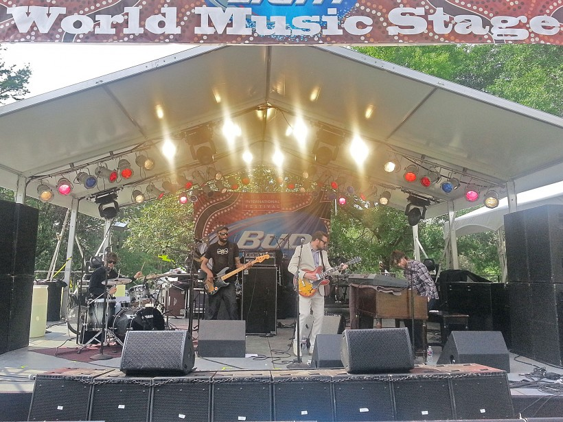The New Mastersounds at International Fest in Houston TX.  World Music... well they are from Europe I guess!