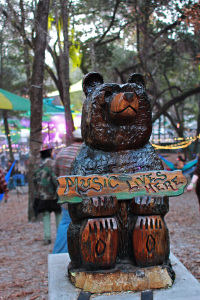 the mascot of bear creek, seen here without sunglasses