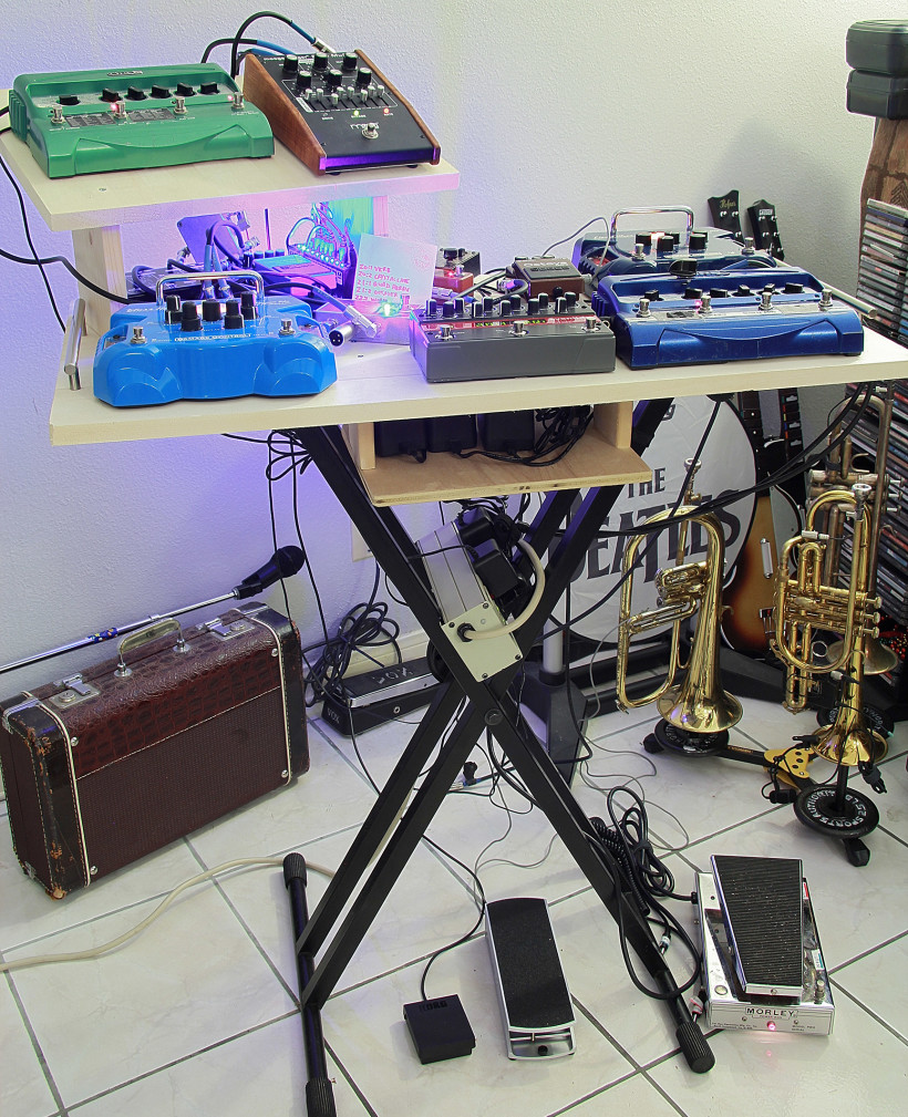 electric trumpet pedalboard