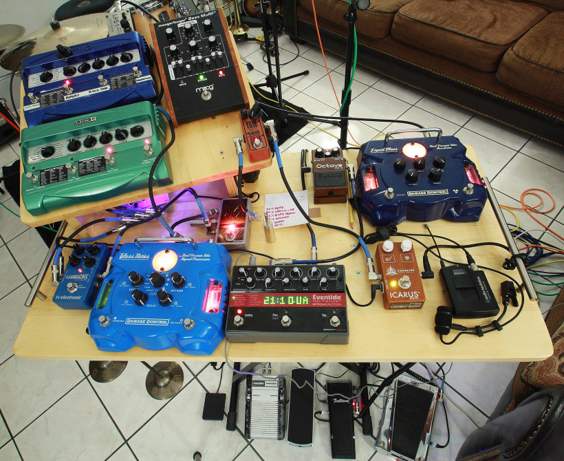 Pedal setup for 3-7-15 session