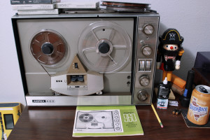 The Ampex model 960 reel to reel tape machine.