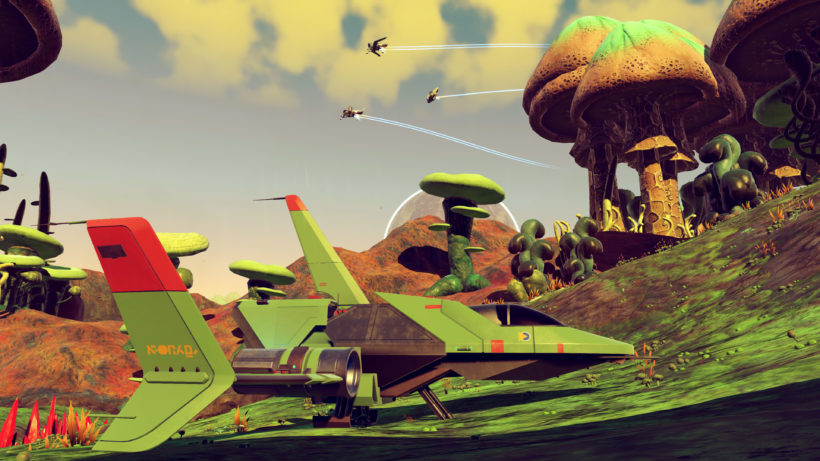 My third ship in No Man's Sky, the Green Meanie